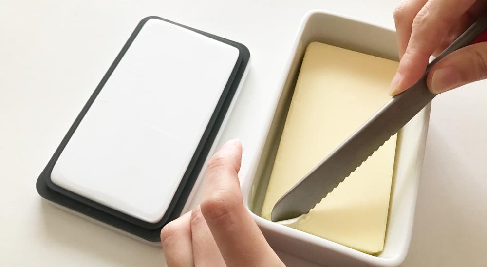 KINTOのバターケースとスプレッドザットのバターナイフ