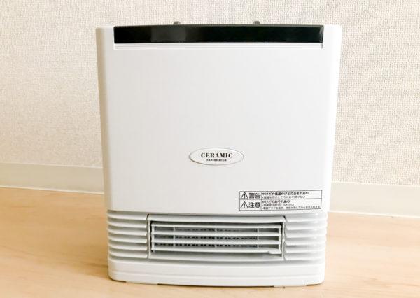 4.5畳部屋に最適!Panasonicのセラミックファンヒーター(DS-F1206-W)