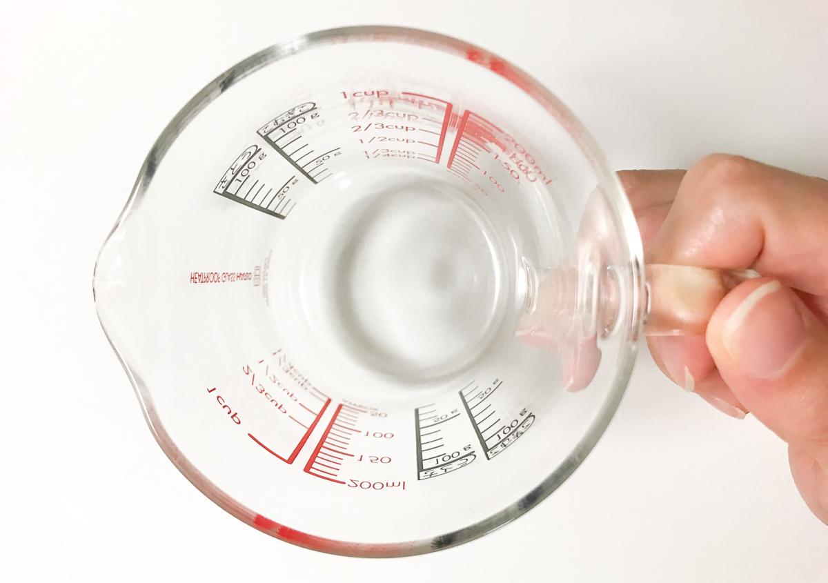 HARIO(ハリオ)の耐熱ガラス計量カップの広い口