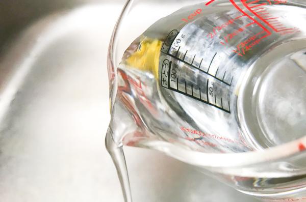 HARIO(ハリオ)の耐熱ガラス計量カップの注ぎ口