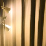 寝室の間接照明に、北欧風のおしゃれなスタンドライトを買いました