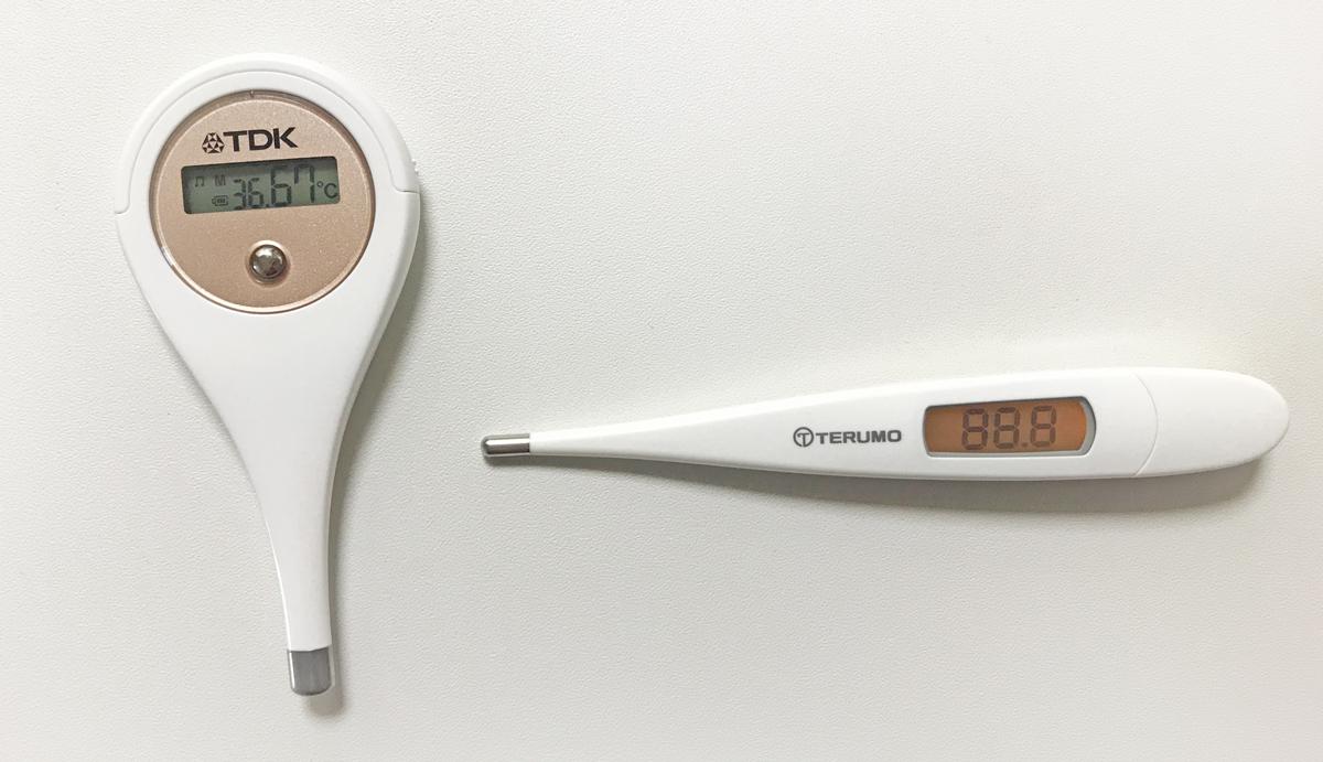 普通の体温計と基礎体温計の比較