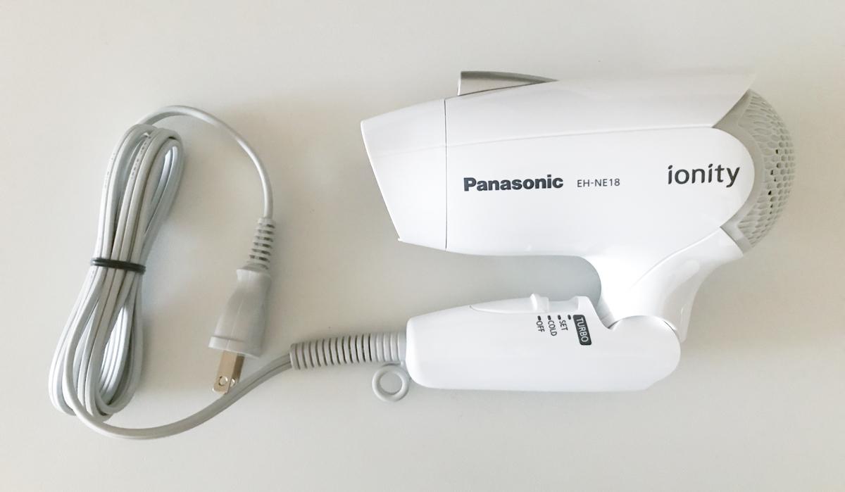 パナソニックのヘアドライヤー EH-NE18はかなりコンパクトになる