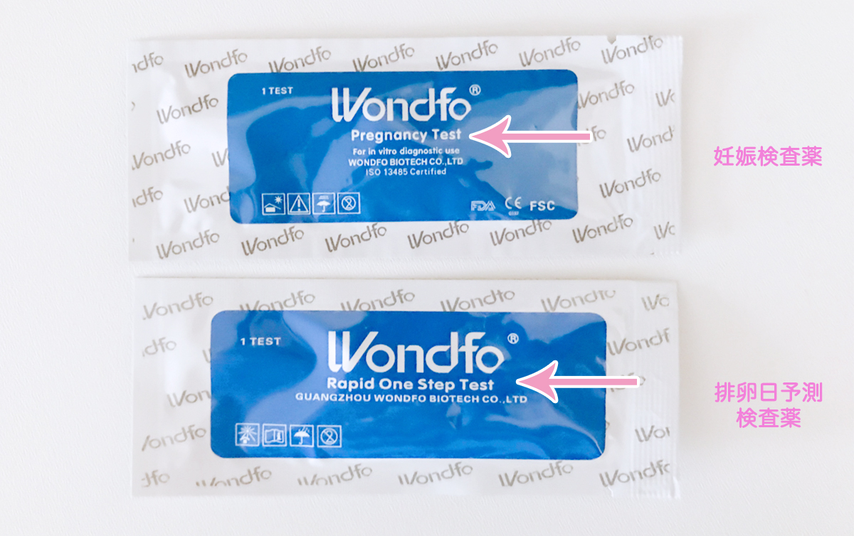 Wondfo 排卵日予測検査薬と妊娠検査薬
