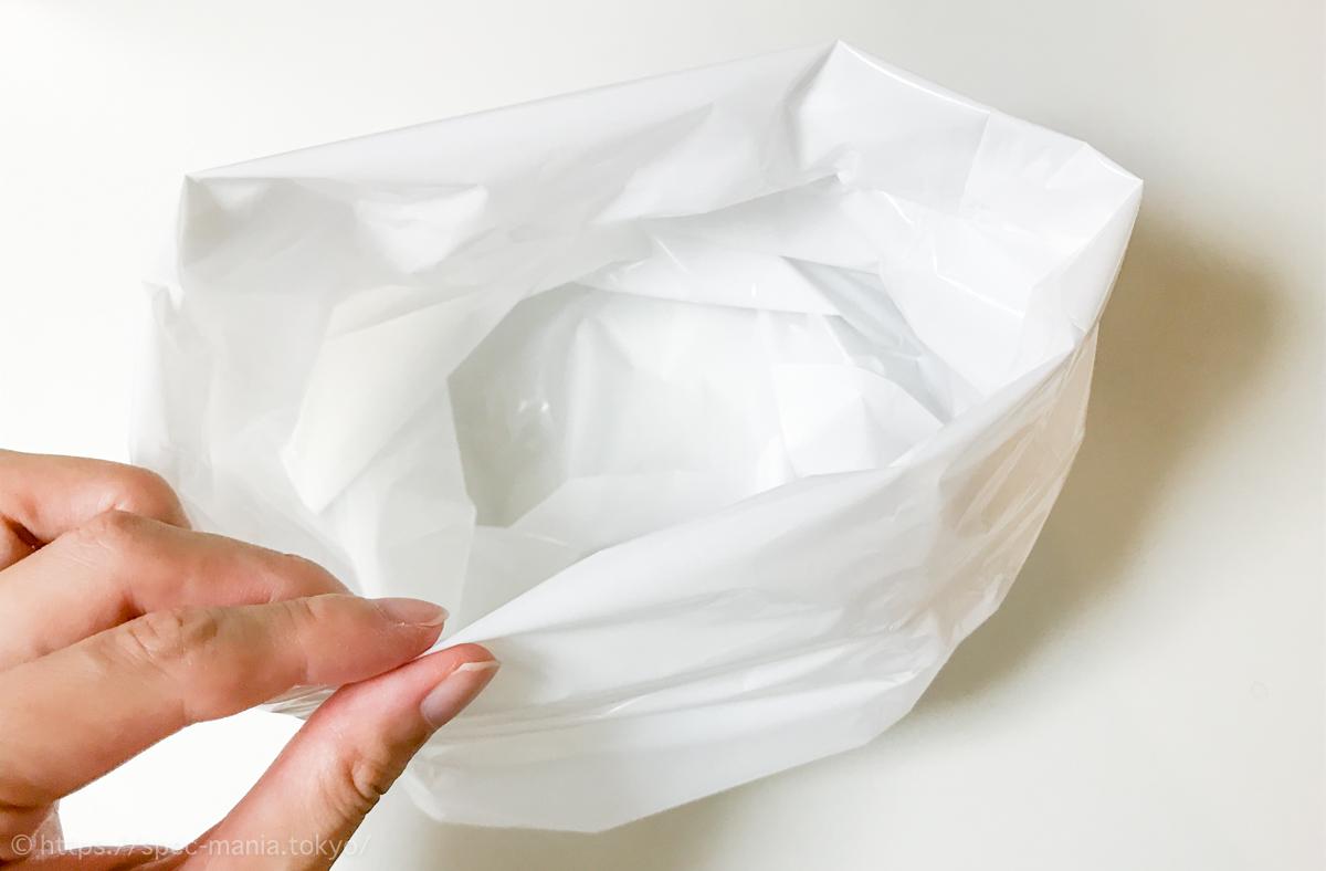 BOS(ボス)生ゴミが臭わない袋Mサイズのサイズ感