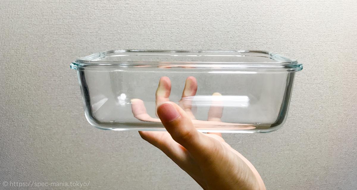 ニトリの耐熱ガラス保存容器の本体