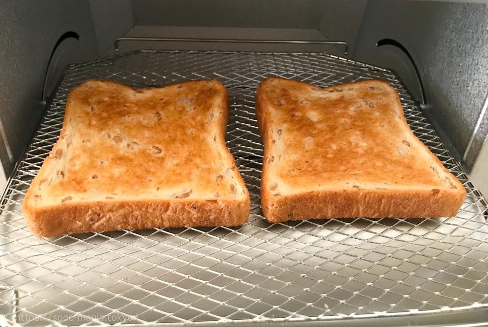 うまパントースターでこんがり焼いた食パン