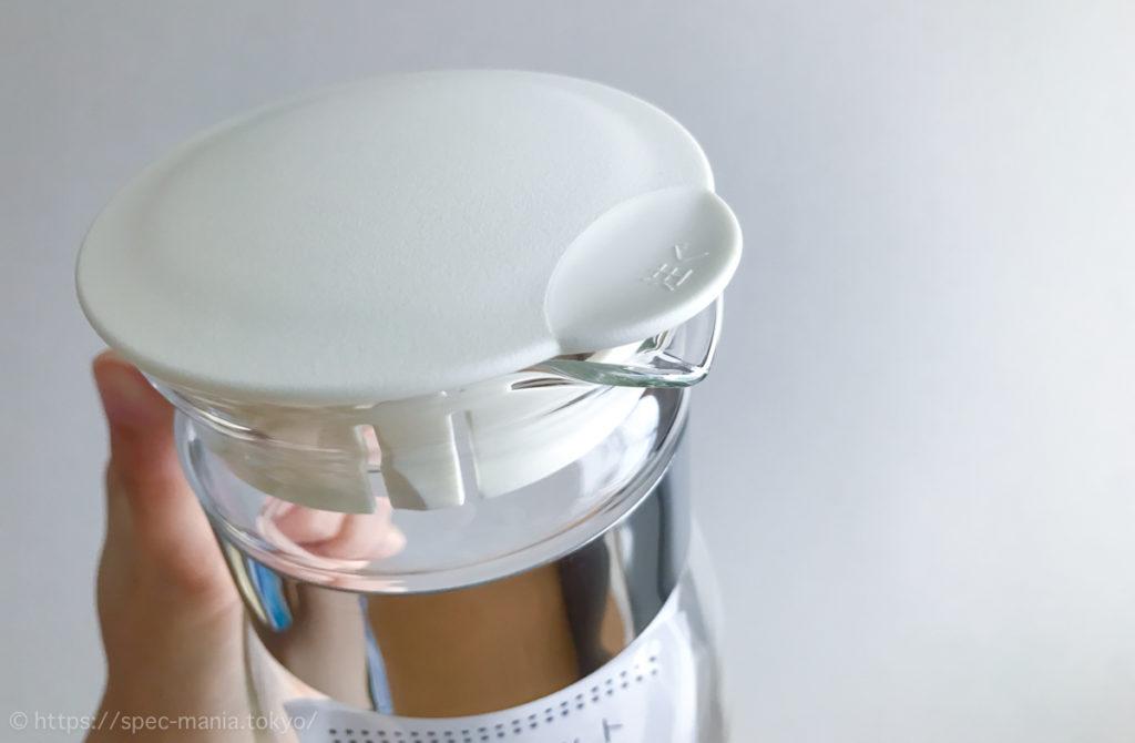 ハリオの耐熱麦茶ボトルの注ぎ口