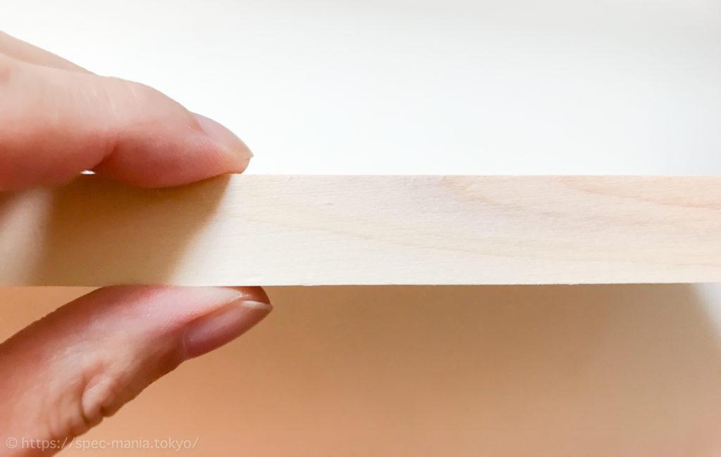 ウメザワ 東農ひのき まな板の厚み