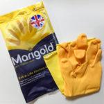 キッチン用ゴム手袋はマリーゴールドがおすすめ。安いのと全然違います!