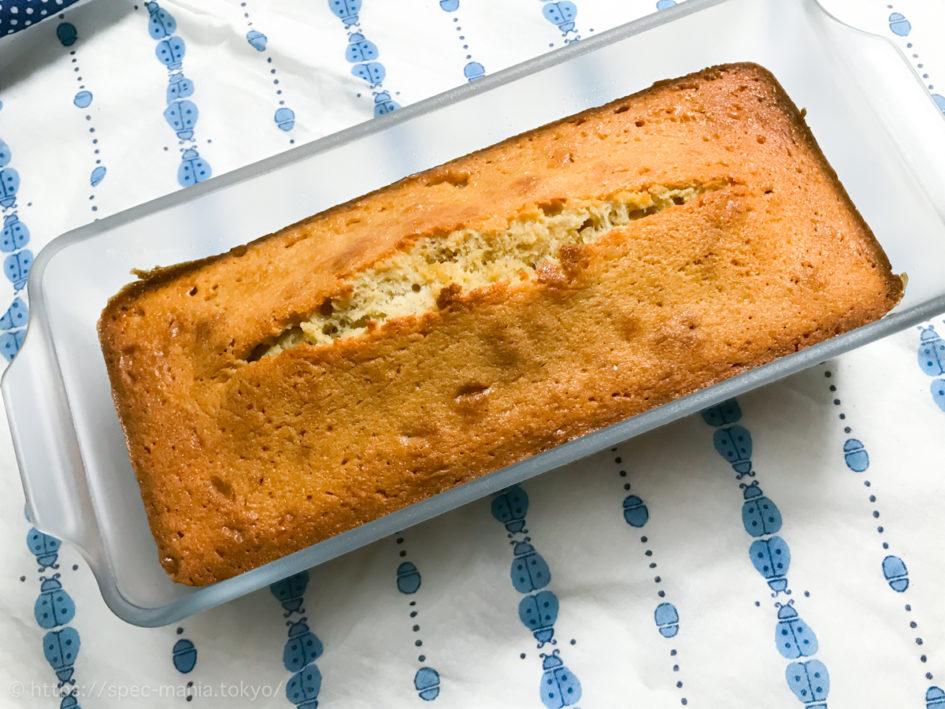 セラベイクのパウンドケーキ型でパウンドケーキを焼いたところ